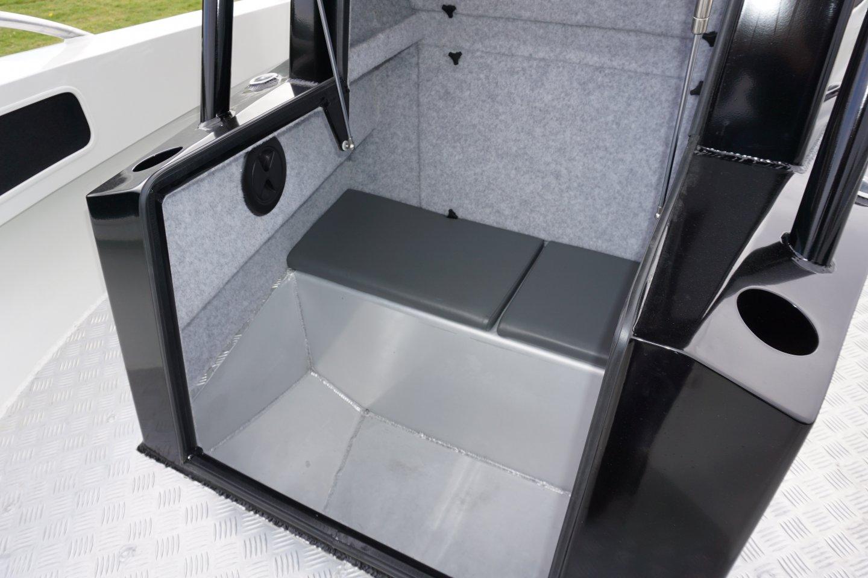 bow seat storage area