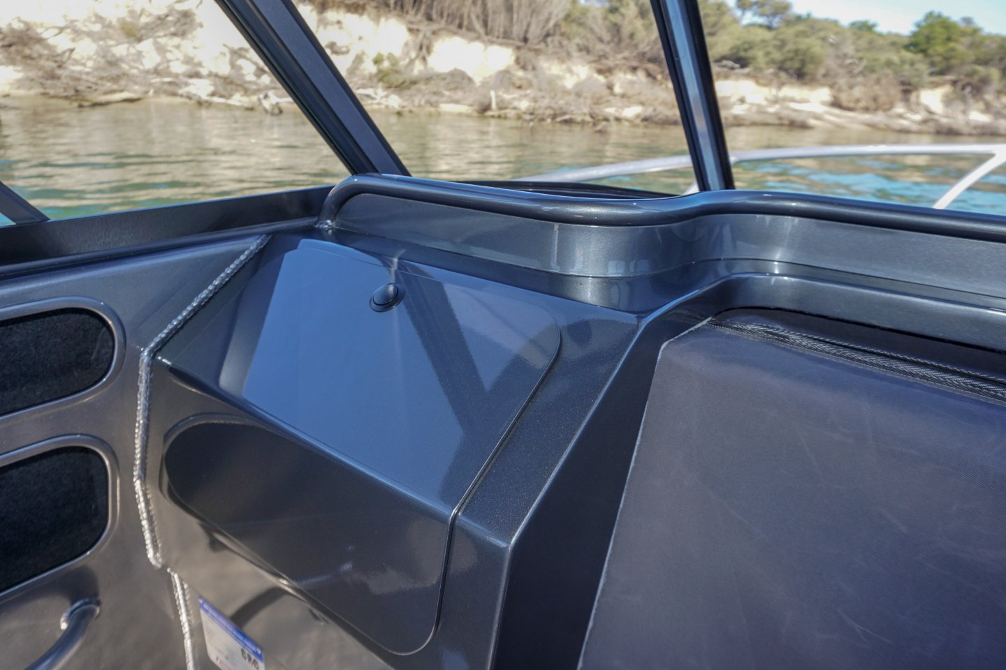 Extreme plate boat glovebox