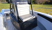 custom console with gullwing door